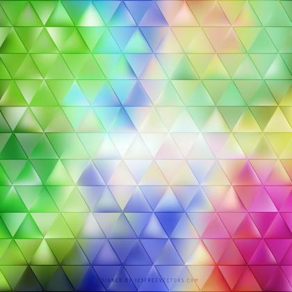 Abstract Colorful Triangle Background Template
