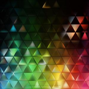 Abstract Colorful Triangle Background Graphics