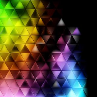 Abstract Colorful Triangle Background Clip Art