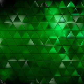 Abstract Black Green Triangle Pattern