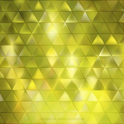 Abstract Yellow Green Triangle Background Pattern