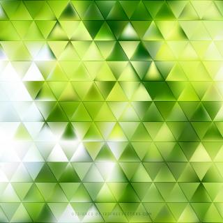 Abstract Yellow Green Triangle Vector Background