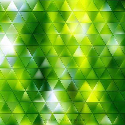 Abstract Yellow Green Triangle Background Template