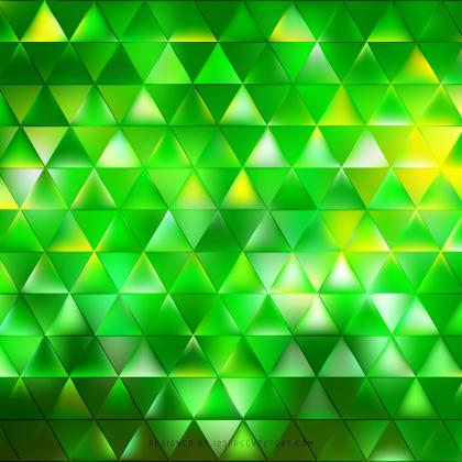 Abstract Green Triangle Background Graphics