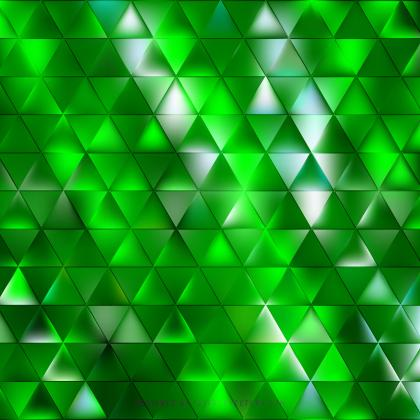 Abstract Green Triangle Background Design