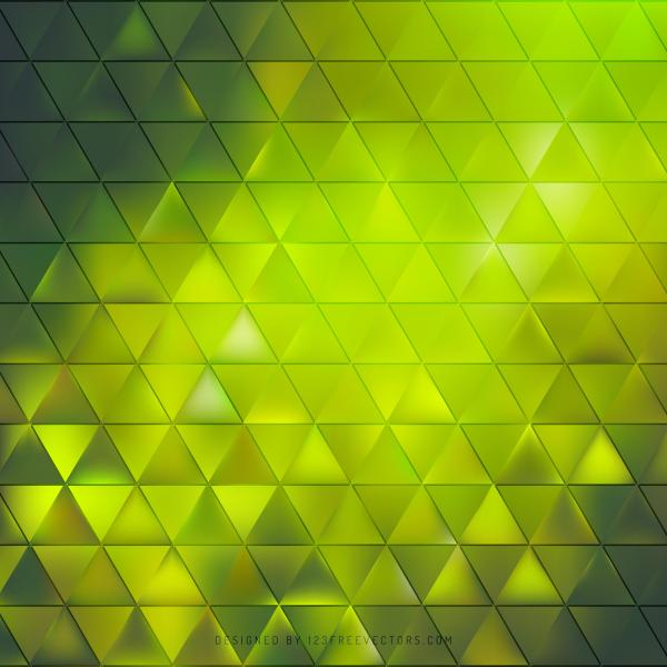 Abstract Green Geometric Triangle Pattern