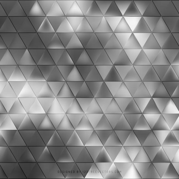 Gray Geometric Triangle Pattern