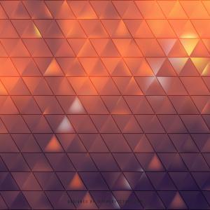 Dark Orange Triangle Pattern