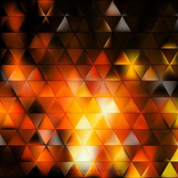 Black Orange Fire Triangle Background Clip Art