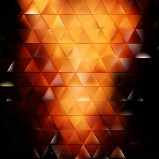 Black Orange Fire Triangle Background Design