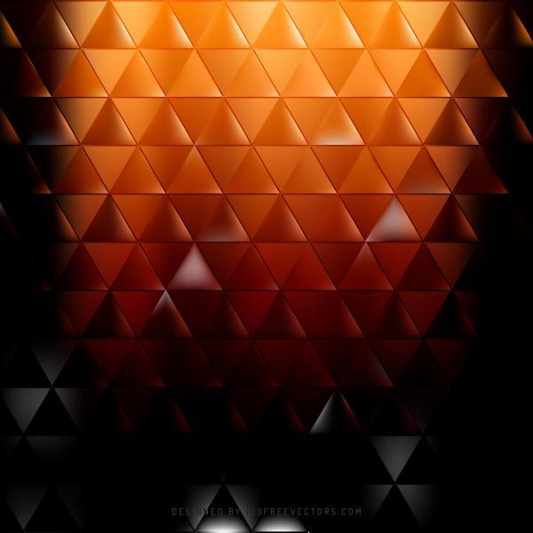 Black Orange Fire Triangle Background Vector