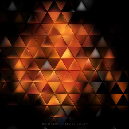 Black Orange Fire Geometric Triangle Background