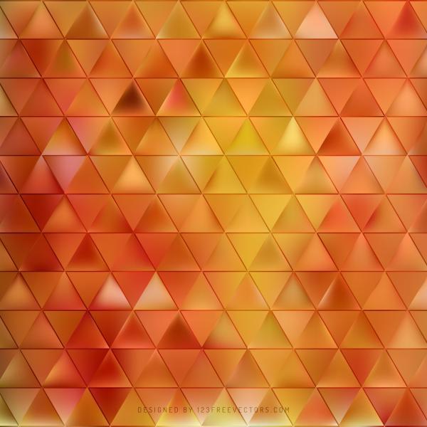 Yellow Orange Geometric Triangle Pattern