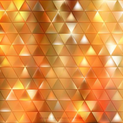 Abstract Orange Triangle Background Pattern