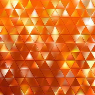 Cool Orange Triangle Vector Background