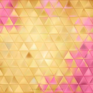 Yellow Pink Triangle Background Clip Art