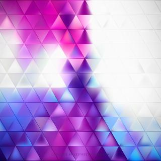 Abstract Blue Purple Geometric Triangle Background