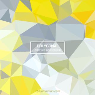 Polygonal Yellow Green Pattern Background