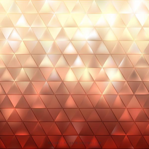 Abstract Red Beige Triangle Pattern