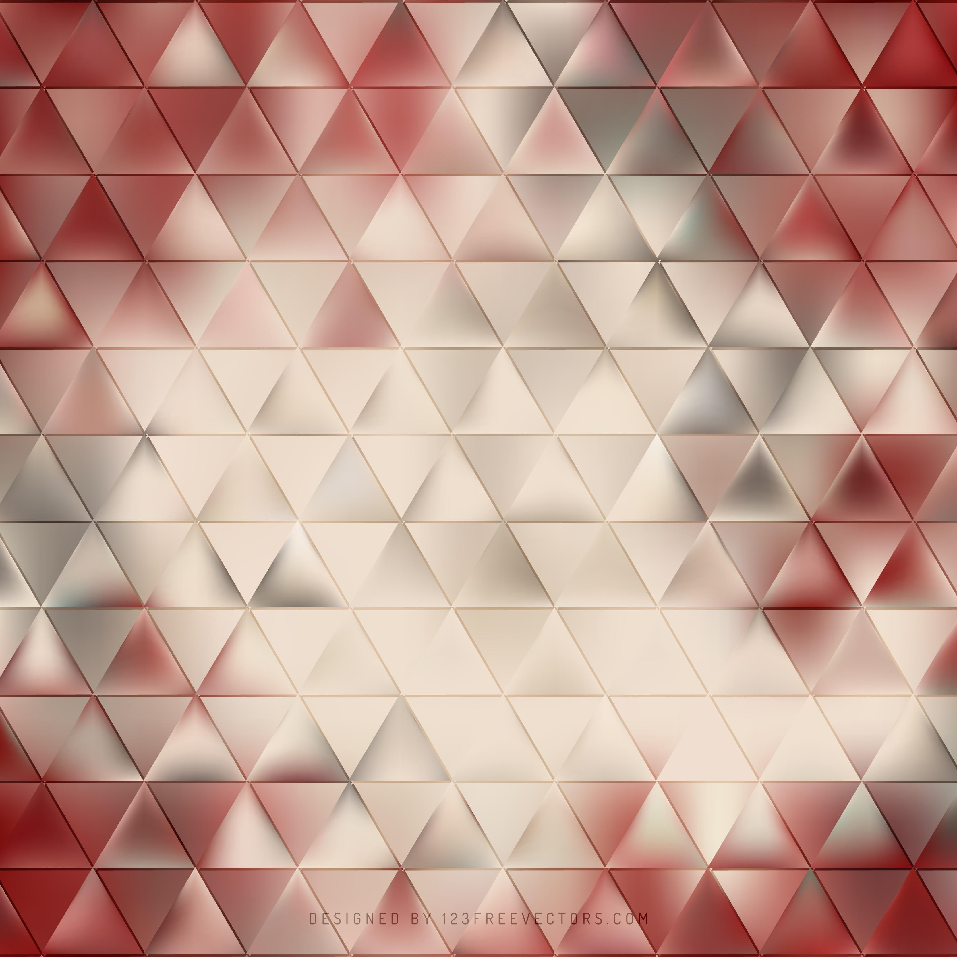 Abstract Beige Triangle Polygonal Background