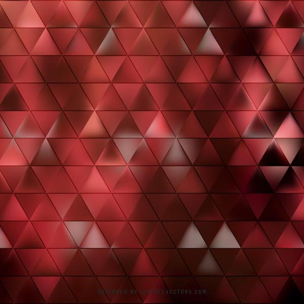 Abstract Dark Red Triangle Background Image
