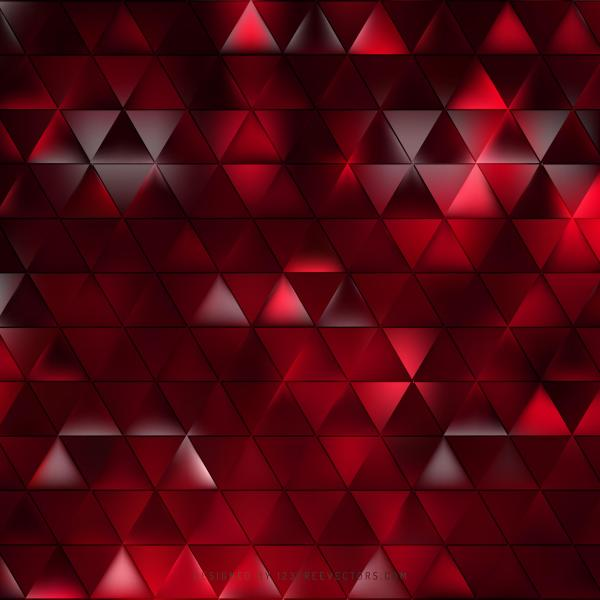 Abstract Dark Red Triangle Background