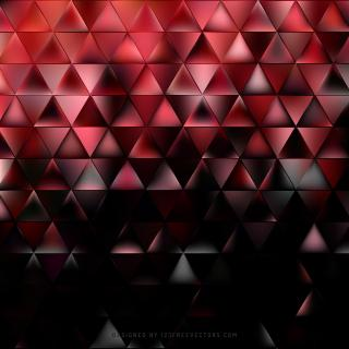 Abstract Red Black Triangle Background Design