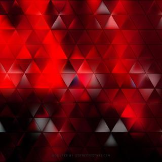 Abstract Red Black Triangle Background Vector