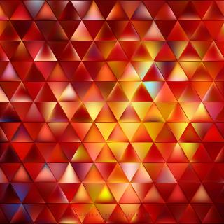 Abstract Red Yellow Triangle Shape Background