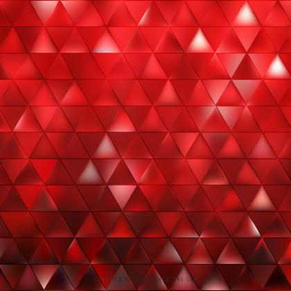 Abstract Red Triangle