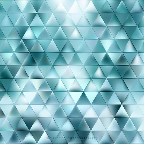 Abstract Turquoise Triangle Background Illustrator