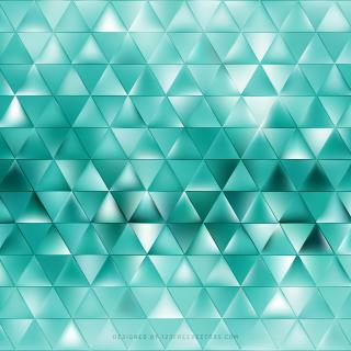 Abstract Turquoise Triangle Background