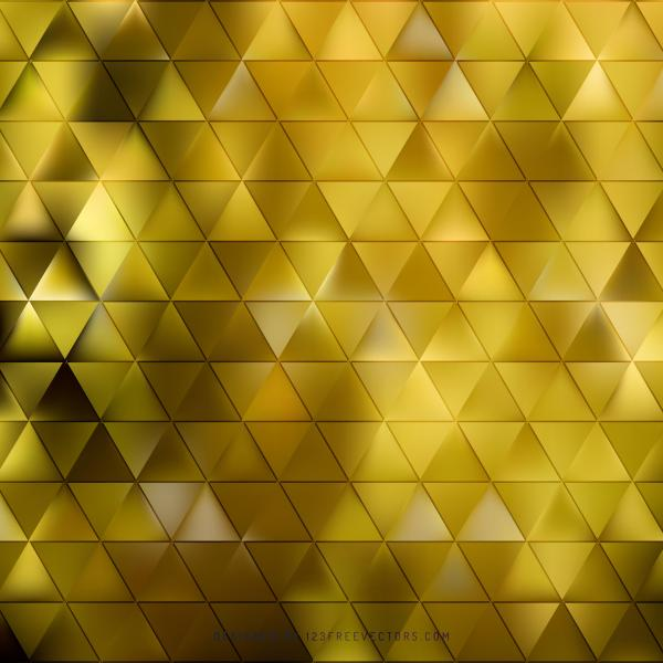 Abstract Yellow Geometric Triangle Pattern