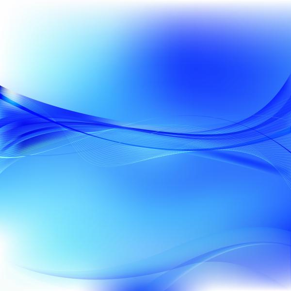 Cobalt Blue Curved Lines Background Template