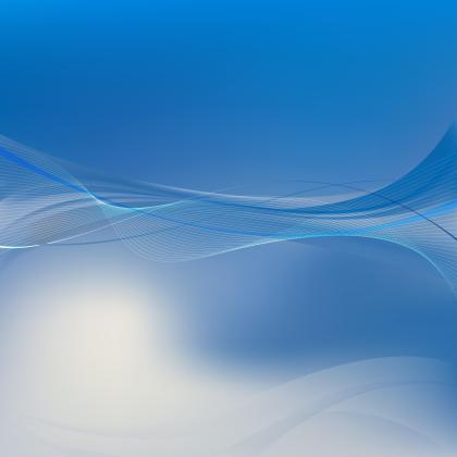 Abstract Blue Flowing Lines Background Template