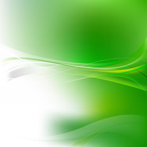 White Green Flowing Lines Background