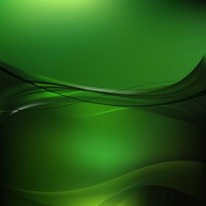 Black Green Flowing Curves Background