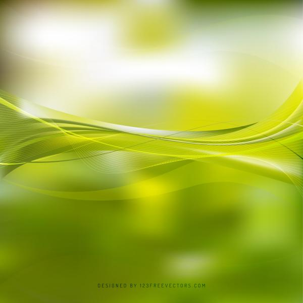 Yellow Green Curved Lines Background Template