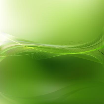 Green Flowing Curves Background Template