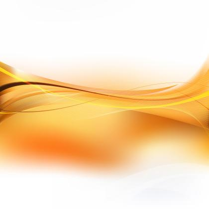 Abstract White Orange Curved Lines Background