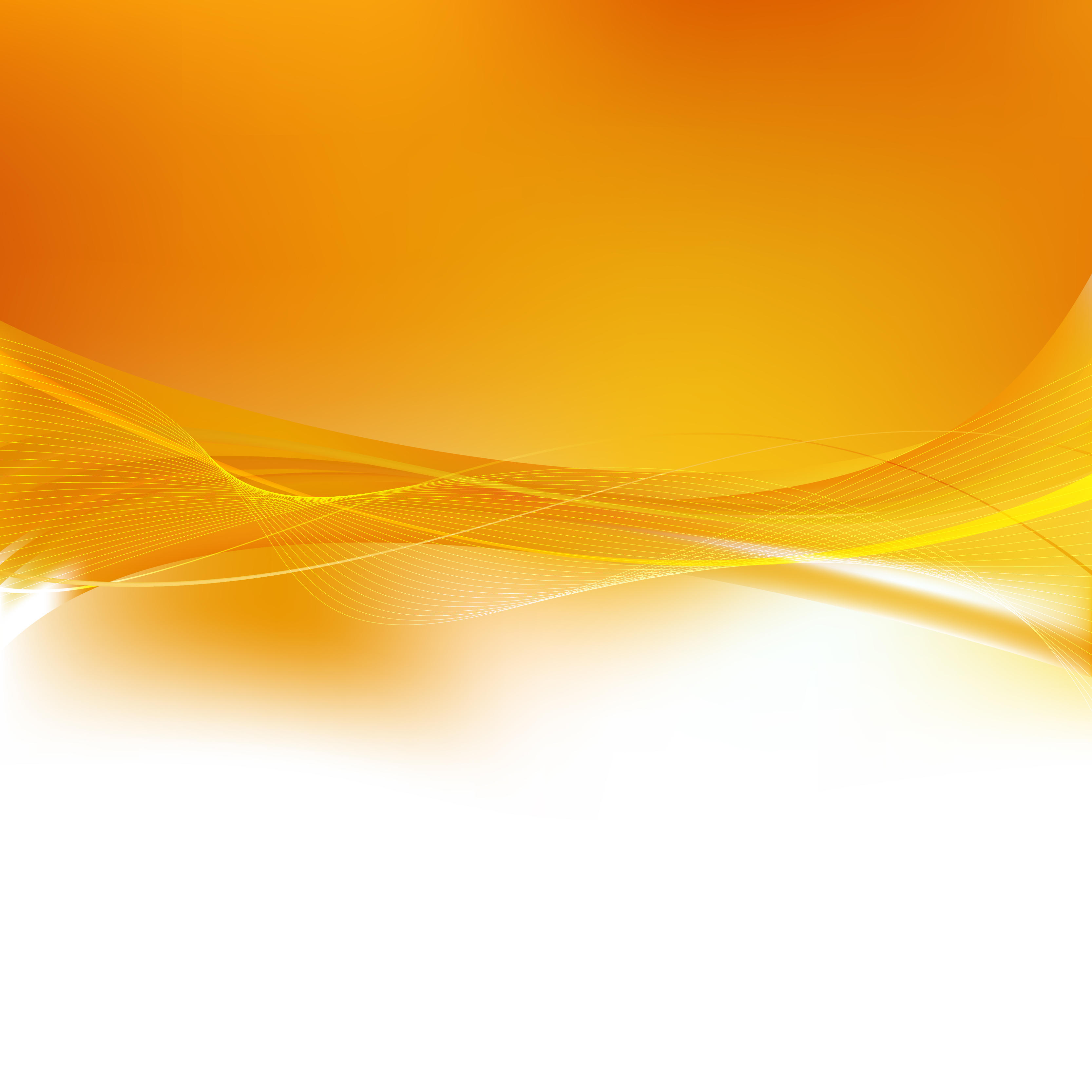Abstract White Orange Wavy Lines Background