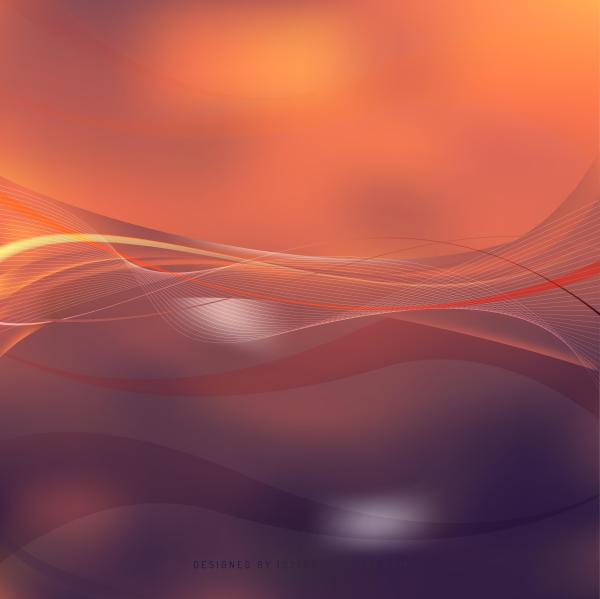 Abstract Dark Orange Flowing Lines Background