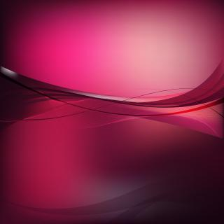 Dark Pink Curved Lines Background