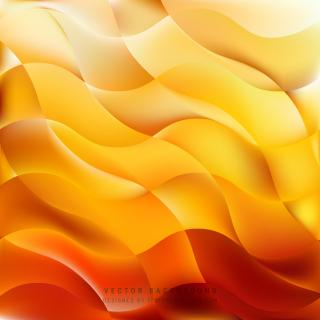 Abstract Yellow Orange Background Vector
