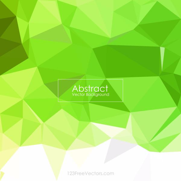 Lawn Green Color Low Poly Background Design