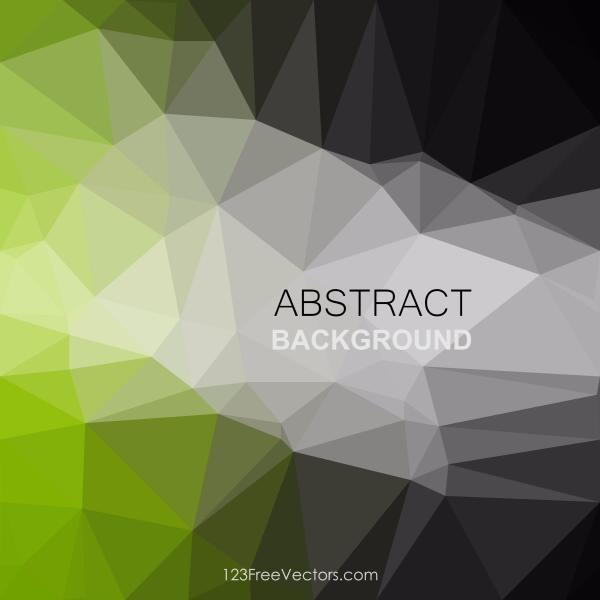 Polygonal Black Green Pattern Background Illustrator Inspiration Green Pattern Background