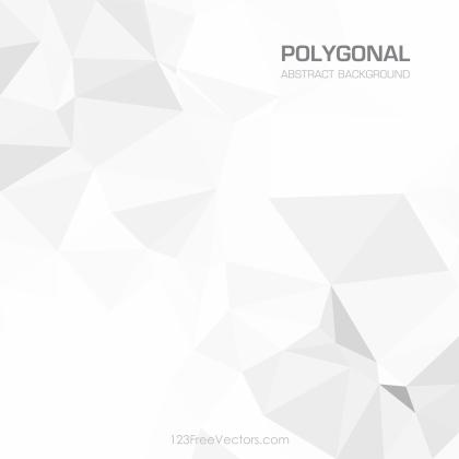 White Abstract Geometric Polygon Background Vector