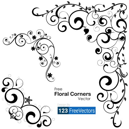 Vector Floral Corners