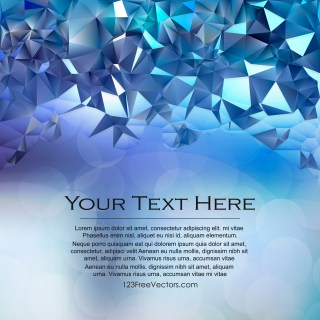 Free Blue Polygon Background Vector
