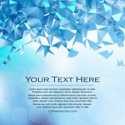 Free Blue Polygon Pattern Background Vector Art